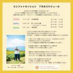 来月は、ひまわり畑撮影会のシーズンです!